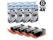 LD © Compatible Replacements for Canon 8050B001 PGI-255XXL / PGI-255 4PK Extra HY Black Inkjet Cartridges for use in Canon PIXMA iX6820, MX722, and MX922 Printers