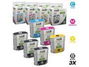 LD © Remanufactured Replacements for Hewlett Packard (HP 82) 6PK Inkjet Cartridges Includes: 3 CH565A Black, 1 C4911A Cyan, 1 C4912A Magenta, 1 C4913A Yellow for use in HP DesignJet 510 Printer