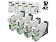 LD © Remanufactured Replacement for Epson T0791 Set of 4 Black High Yield Ink Cartridges Includes: 4 T079120 Black for use in Artisan 1430, and Stylus Photo 1400 Printers