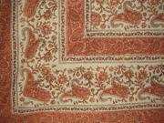 Rajasthan Block Print Tapestry Large Tablecloth Twin