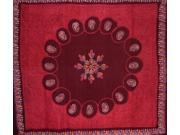 Authentic Batik Tapestry Bedspread Coverlet Many Uses Red
