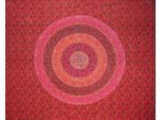 Sanganeer Tapestry Spread Versatile Mandala Block Print Twin Red