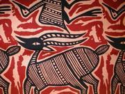 Heavy Tapestry Coverlet Bedspread Animals of Earth, Water & Sky