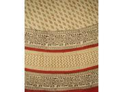 Bagru Hand Block Printed Tablecloth 72 Inch Round Cotton