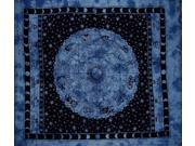 """Astrological Tapestry Spread Throw Coverlet Zodiac 82"""" x 92"""" Blue"""