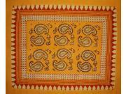 """Reversible Pillow Sham Veggie Dye Block Print 28"""" x 24"""" Cotton"""