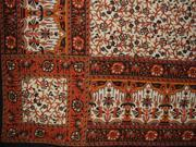 """Cotton Floral Print Tapestry or Spread Many Uses 104"""" x 88"""" Black"""