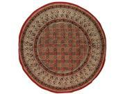 "Kalamkari Hand Block Print Tablecloth Cotton 72"" Round"