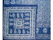 Reversible Duvet Cover Indigo Blue Dabu Block Print Full / Queen