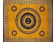Celestial Tapestry Bedspread Throw Many Uses Amber Gold