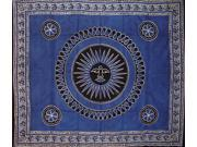 Celestial Tapestry Bedspread Throw Many Uses Blue