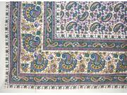 Turkish Style Cotton Floral Paisley Print Tapestry or Spread 106 x 88