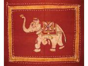 """Reversible Pillow Sham Authentic Batik Elephant 30"""" x 24"""" Cotton"""