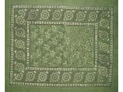 """Reversible Pillow Sham Dabu Block Print 30"""" x 24"""" Cotton"""