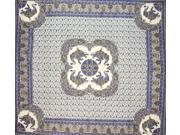 Good Luck Elephant Indian Bedspread Queen Grey