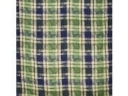 "Plaid Cotton Jacquard Tablecoth 60"" x 60"" Grapevine"