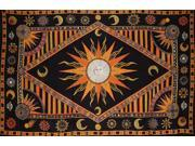 Celestial Print Tapestry Wall Hang or Spread 102 x 70 Orange Twin