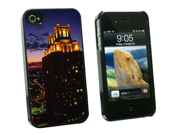 Atlanta at Sunset - Snap On Hard Protective Case for Apple iPhone 4 4S - Black
