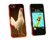 Chicken - Snap On Hard Protective Case for Apple iPhone 5 - Red
