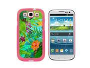 Tropical Rain Forest Green Blue - Snap On Hard Protective Case for Samsung Galaxy S3 - Pink