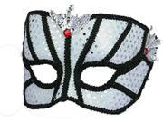 Black and Silver Couples Mask