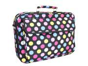 """All-Seasons 17"""" Laptop Computer Case - Multi-Colored Dots"""