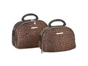 Rockland Luca Vergani 2-Piece Cosmetic Case Set - Leopard