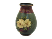 Gardenia Collection Hand-Painted Oval Flower Vase
