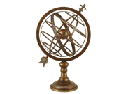"Engraved 27""H Metal Armillary Nautical Celestial Sphere Globe"