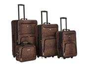 Rockland F125-LEOPARD 4 Pc Leopard Luggage Set
