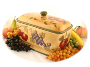 Tuscan Collection Deluxe Hand-Painted Toast Bread Box Jar