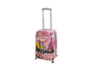 Rockland Las Vegas 20-inch Hardside Spinner Carry-On Luggage - Pink Vegas