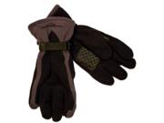 Zero Xposur Mens Black with Gray Fleece Snow Gloves Water Resistant