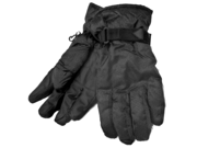 Merona Mens Black Winter Snow Gloves with Thermolite Insulation Ski Snowboard