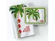 St Nicholas Square Palm Tree Christmas Kitchen Towel & Potholder Set Pot Holder