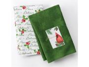 St Nicholas Square Christmas Cardinal Kitchen Towel Set Peace Believe