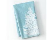St Nicholas Square Holiday Kitchen Towel Set Blue Christmas Tree 2 Towels