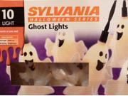 Sylvania 10 Ghost Lights Halloween String Light Set