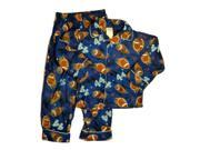 Arizona Boys Blue Flannel Football Pajamas Sports Sleepwear Set PJs 4
