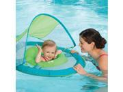 Swim Ways Baby Spring Float with Sun Canopy Green Whale Design