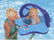 Swim Ways Sun Canopy Baby Blue Star Fish Boat Style Infant Pool Float
