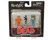 The Walking Dead Prison Hershel & Farmer Zombie Minimates Set Of 2 Mini Figures