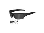 Wiley X Valor Changeable 2 Color  Lens/Matte Black Frame Ballistic Sunglasses