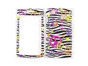 Cell Armor Snap-On Case for Samsung Captivate I897 - Colorful Peace Signs on Black Zebra Print
