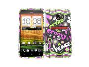 Cell Armor Snap-On Case for HTC Evo LTE - Retro/Groovy/Peace on Black