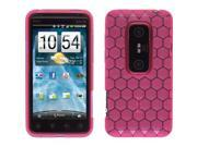 Wireless Solutions Dura-Gel TPU Case for HTC EVO 3D (Pink Honeycomb)