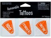 24-Pack Temporary Tattoos: Orange Megaphones Case Pack 24