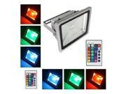 Loftek 30 Watts Colorful RGB LED Landscape Yard Flood Light with Remote Control
