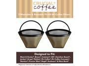 2 Washable & Reusable Coffee Filters # 4 Cone Fit Black & Decker, Braun, Cuisinart, GE, Hamilton Beach, Jerdon, Krups, Melitta, Mr. Coffee, Mr. Coffee Concepts, Norelco, Proctor Silex