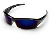 Edge TSRAP218 Wolf Peak Reclus  Safety Glasses, Black/AP Blue Mirror